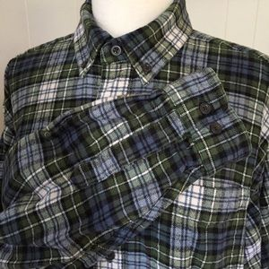 L.L. Bean 100% Cotton Flannel Shirt Tall Large